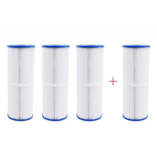 Pack 4x3 filtros largos para spa largos
