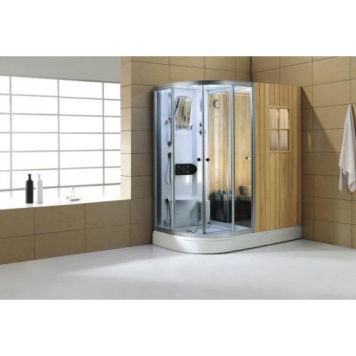 Sauna seca + sauna húmida com chuveiro de hidromassagem AS-001