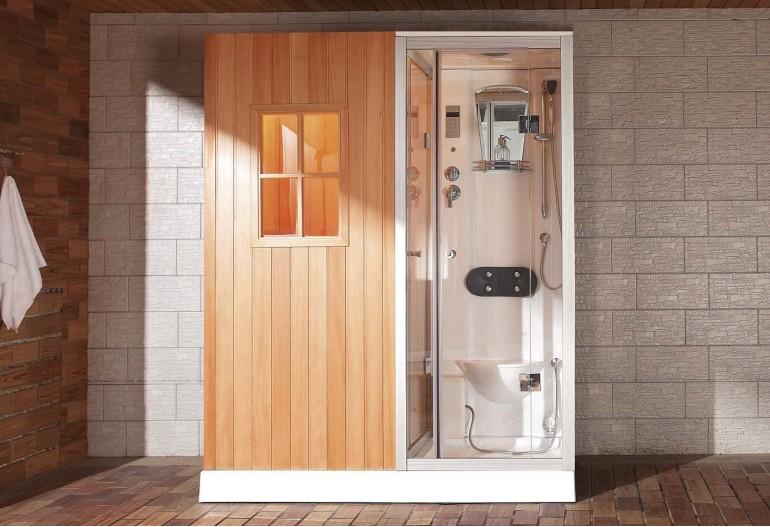 Ducha Hidromasaje.Sauna Seca Sauna Humeda Con Ducha Hidromasaje As 002