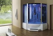 Cabine de hidromassagem e banheira com sauna AT-011C