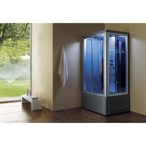 Cabine hidromassagem e banheira com sauna AT-014