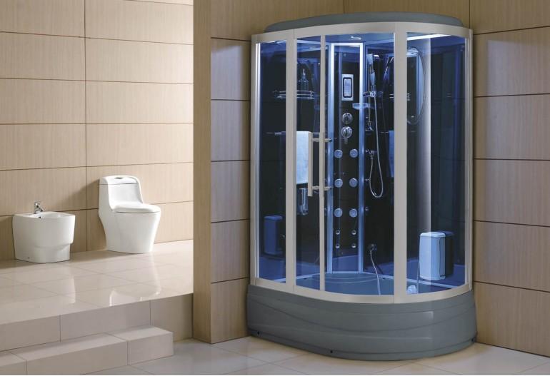 Cabina hidromasaje y bañera con sauna AT-006