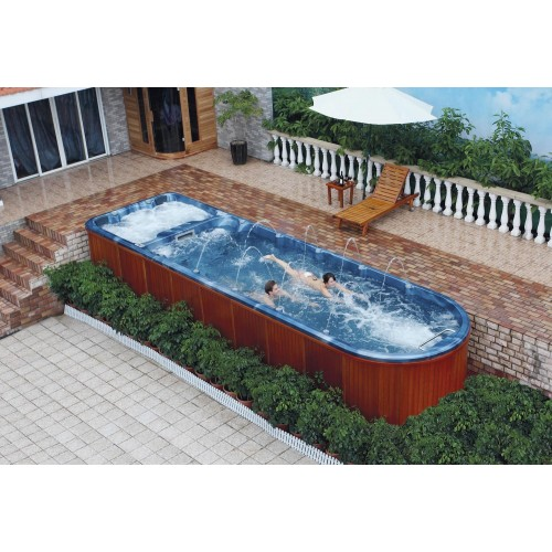 Piscina de hidromassagem swim spa AT-006