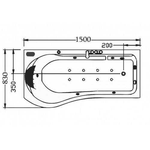 Bañera hidromasaje jacuzzi AT-001-1