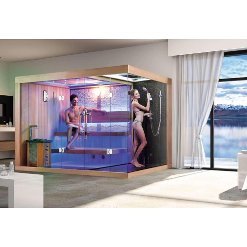 ¡Sauna seca e sauna húmida com chuveiro AT-002B!