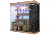 Sauna seca + sauna húmeda con ducha AT-001