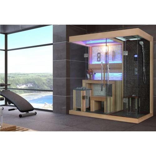 ¡Sauna seca e sauna húmida com chuveiro AT-001B!