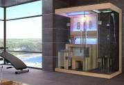 Sauna seca + sauna úmida com ducha AT-001