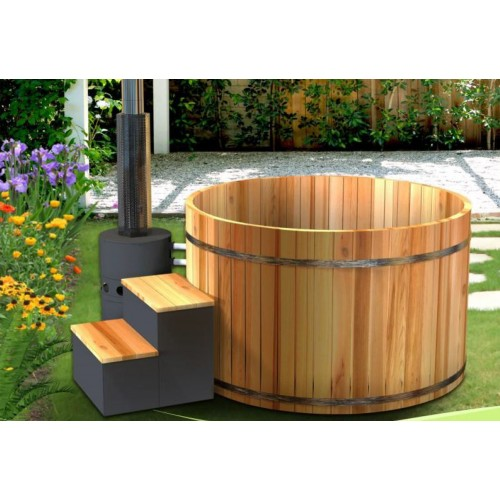 Ofuro japonés / Tina de madera exterior AU-003C