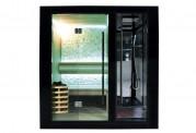 Sauna seca + sauna úmida com ducha AU-001A