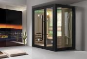 Sauna seca + sauna úmida com ducha AU-001B