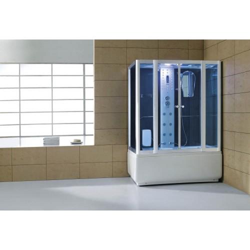 Cabina hidromasaje y bañera con sauna AT-008