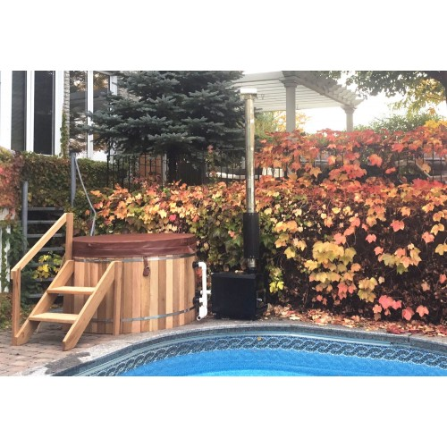 Ofuro japonês / Banheira de madeira exterior AU-002B