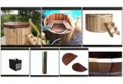 Ofuro japonês / Tina de madeira exterior AU-002B