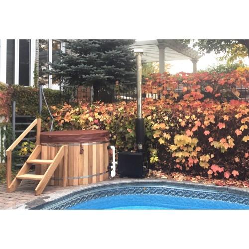 Ofuro japonês / Banheira de madeira exterior AU-002C